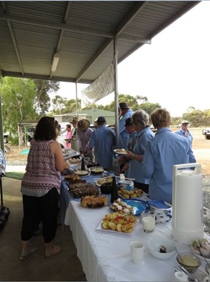 Toyota Landcruiser Club - Afternoon tea supplied by Wandering CWA